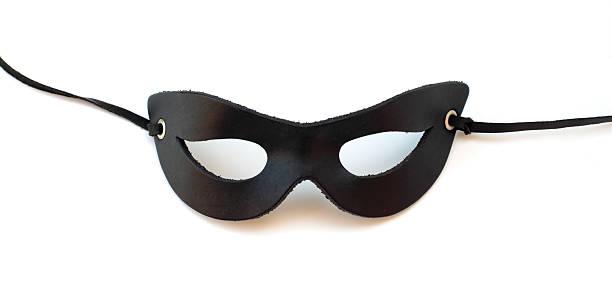 Black leather catmask stock photo