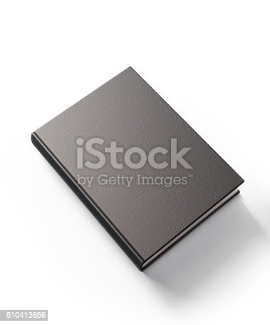 istock Black Leather Covered Book 510413656
