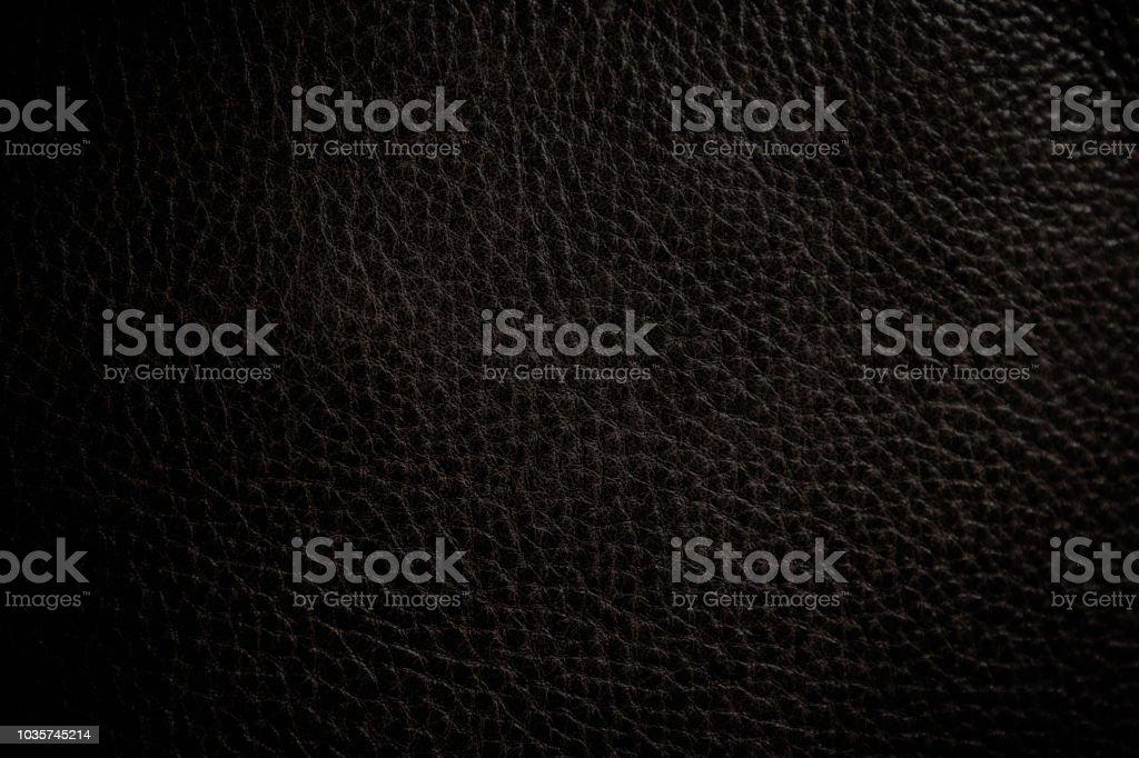 textura de detalhe de couro preto - foto de acervo