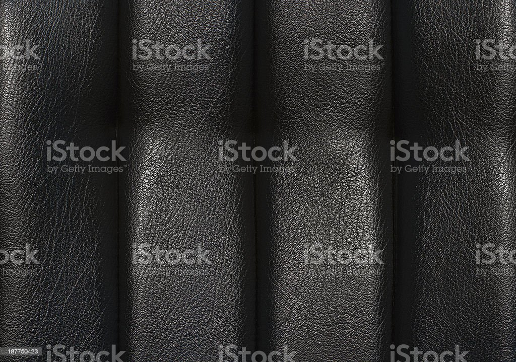Black leather for texture royalty-free stock photo