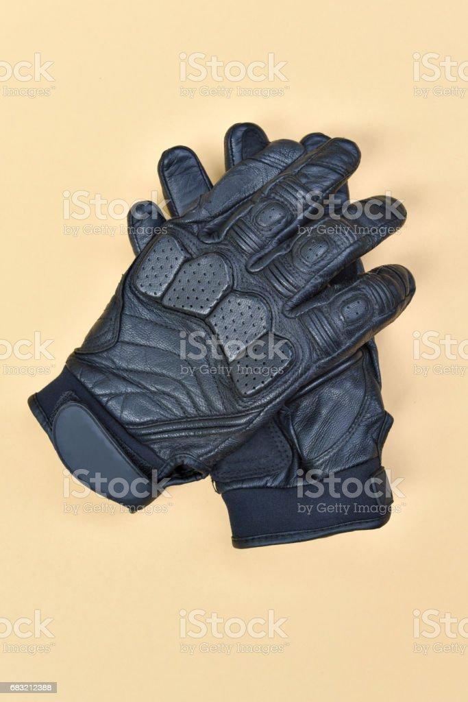 black leather gloves 免版稅 stock photo
