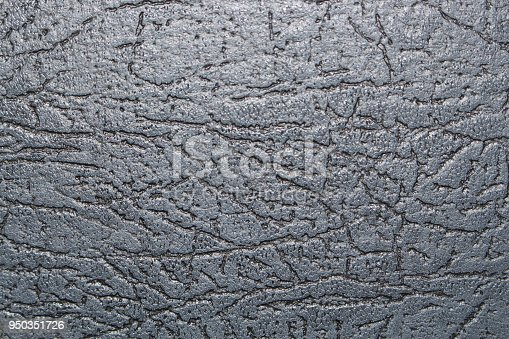 istock Black leather grunge texture. Natural material background surface for design sofa, cloth, cover 950351726