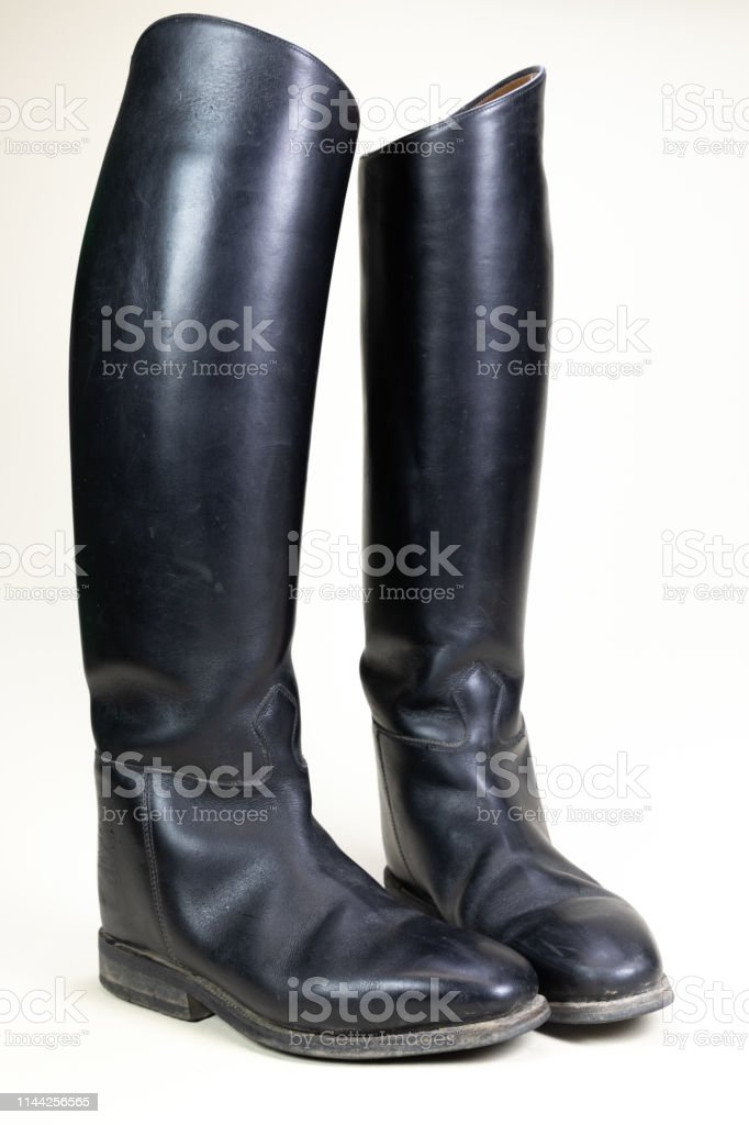 Black Leather Horse Riding Boots Stock Photo Download Image Now Istock