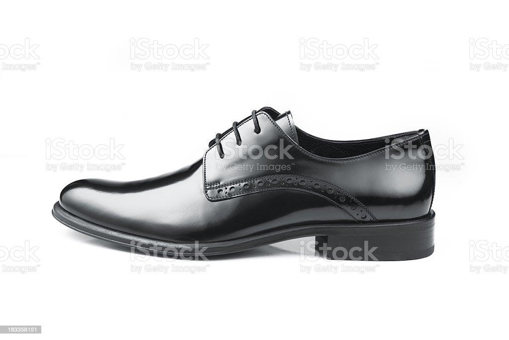 Black Leather Men Shoe stock photo