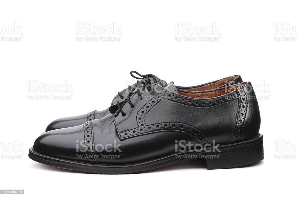 Black Leather Men Shoes royalty-free stock photo