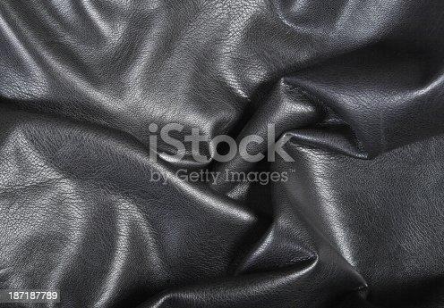 istock Black leather 187187789