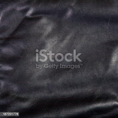 istock Black leather 187201778
