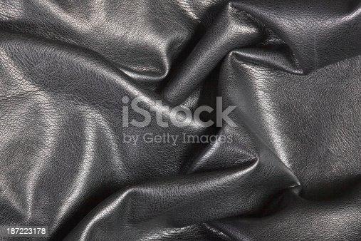 istock Black leather 187223178