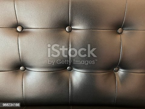 Sofa leather texture background with button