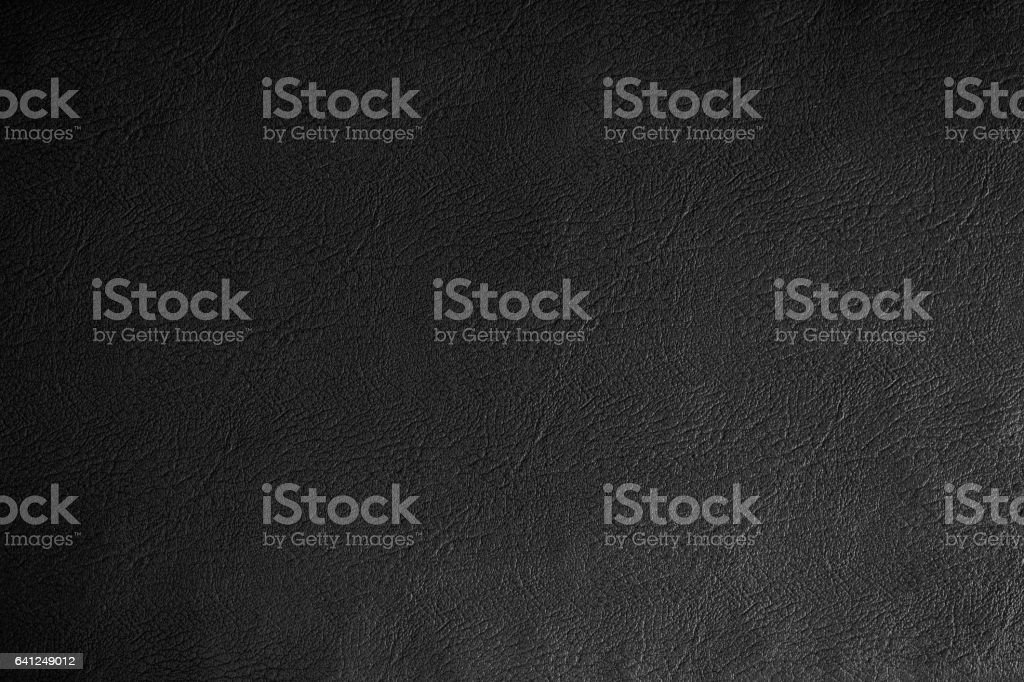 Black leather texture  background, close up. stock photo