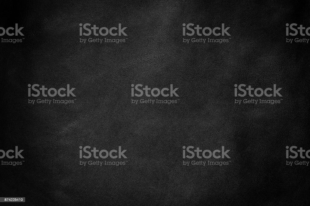 Black leather texture background, Leather  background. stock photo
