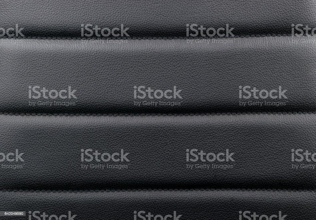 Schwarzes Leder-Textur-Hintergrund mit Nähten – Foto