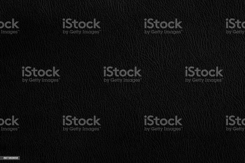 Black leather texture dark background. stock photo