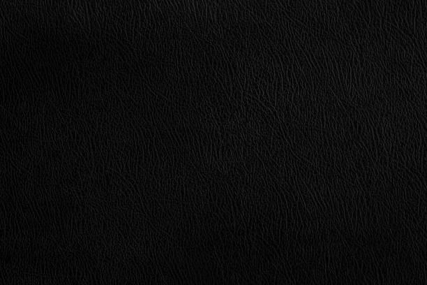 Fondo oscuro de textura de cuero negro. - foto de stock