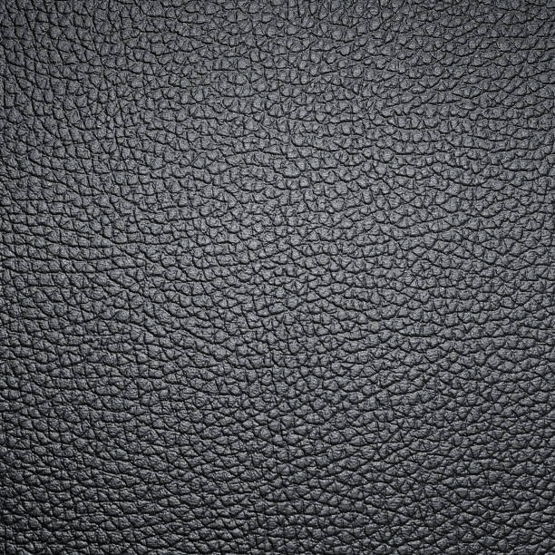 Cтоковое фото black leather texture for background