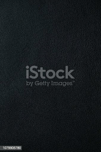 istock Black leather texture 1079905780