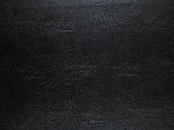 Schwarzes Leder-Textur – Foto