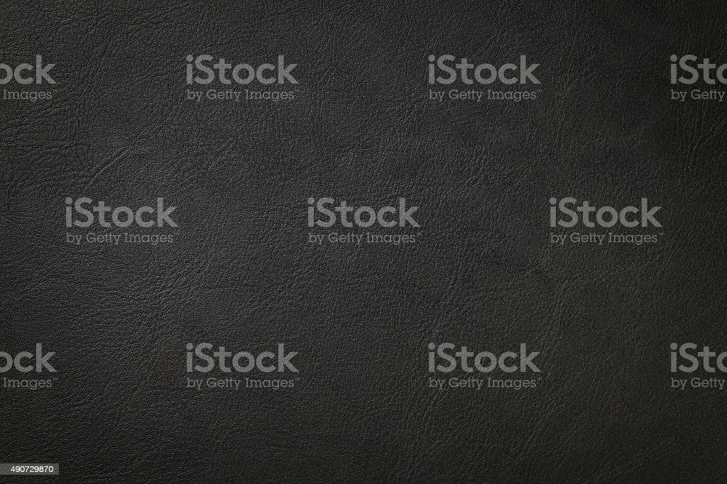 Textura de couro preto - foto de acervo