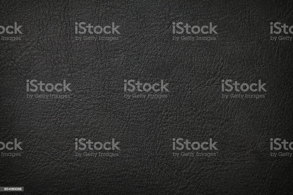 Black leather texture - foto stock