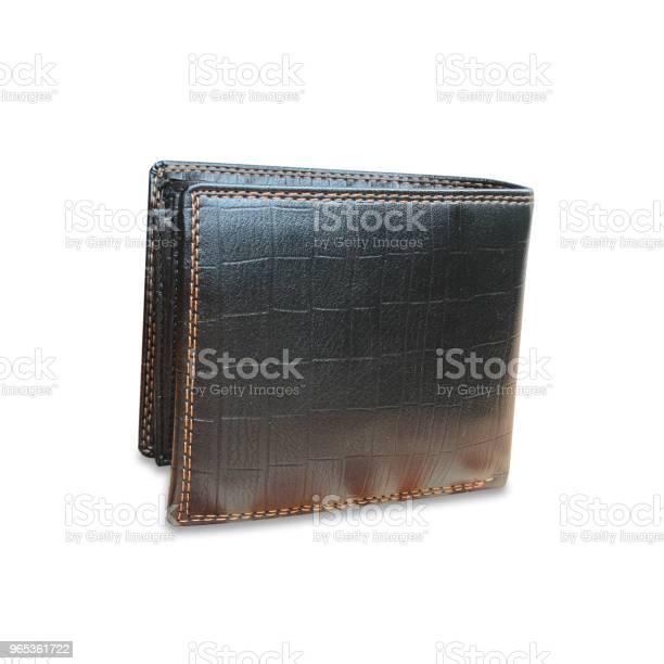 Czarny Skórzany Portfel Na Białym Tle Tekstury - zdjęcia stockowe i więcej obrazów Bez ludzi