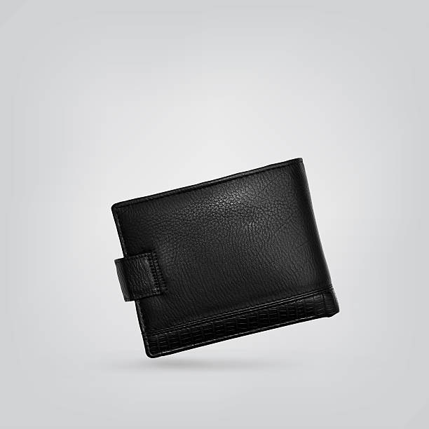 black leather wallet - wallet stock pictures, royalty-free photos & images