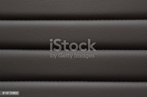istock Black leather with seam pattern 919720832