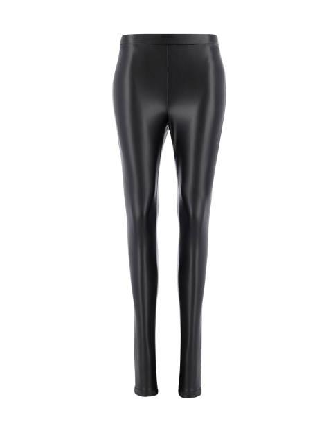 schwarze leggings isoliert. - leder leggings stock-fotos und bilder