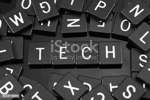 istock Black letter tiles spelling the word