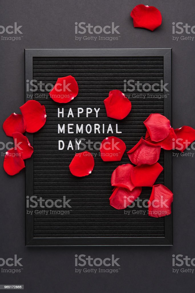 Black letterboard with white plastic letters with quote: Happy Memorial Day zbiór zdjęć royalty-free