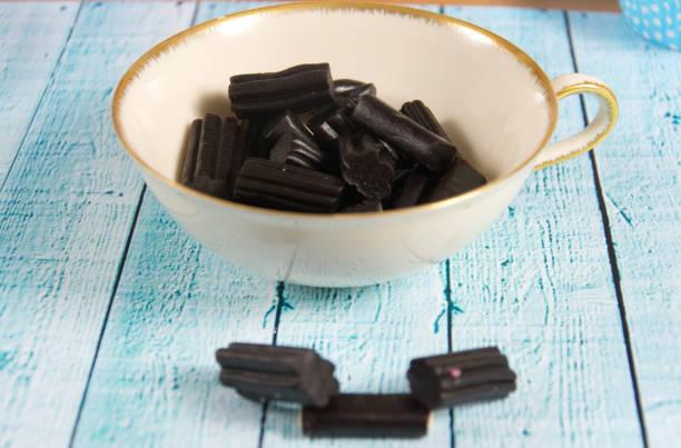 Black Licorice Candy stock photo