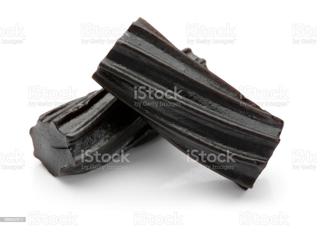 Black lakrits - Royaltyfri Efterrätt Bildbanksbilder