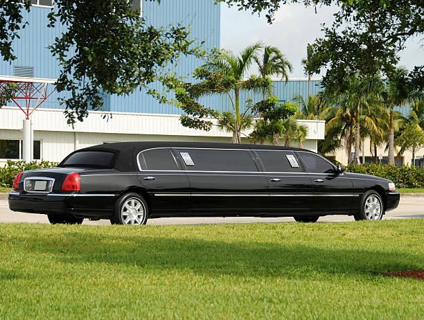 Black limo stock photo