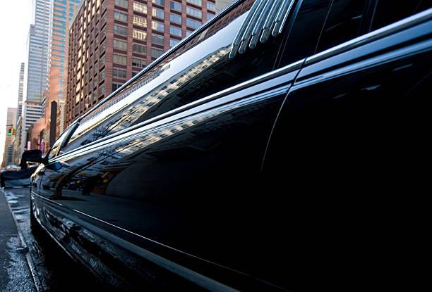 black limousine - limousine service stock photos and pictures