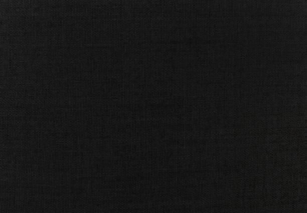 Black linen sofa fabric backgrounds stock photo