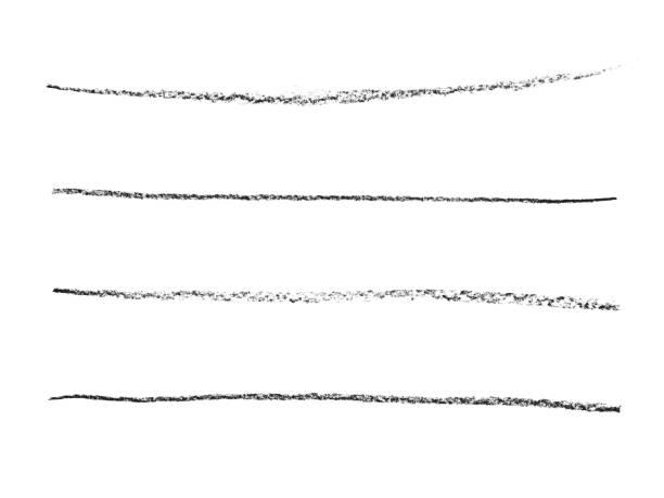4 black lines. drawing. - pasek zdjęcia i obrazy z banku zdjęć