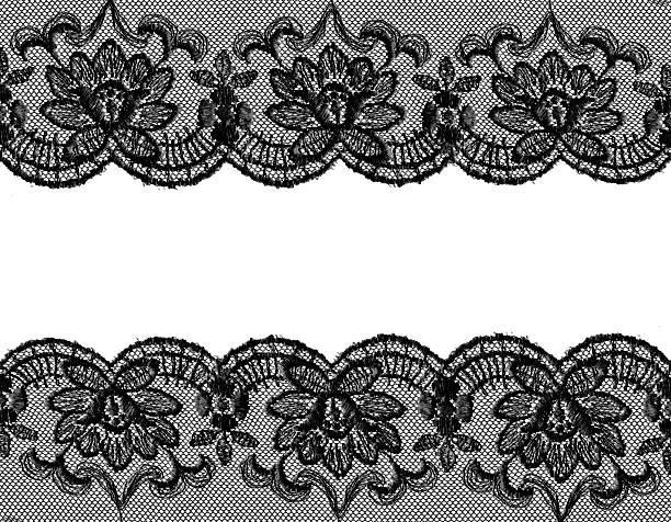 czarny bielizna koronki - koronka zdjęcia i obrazy z banku zdjęć