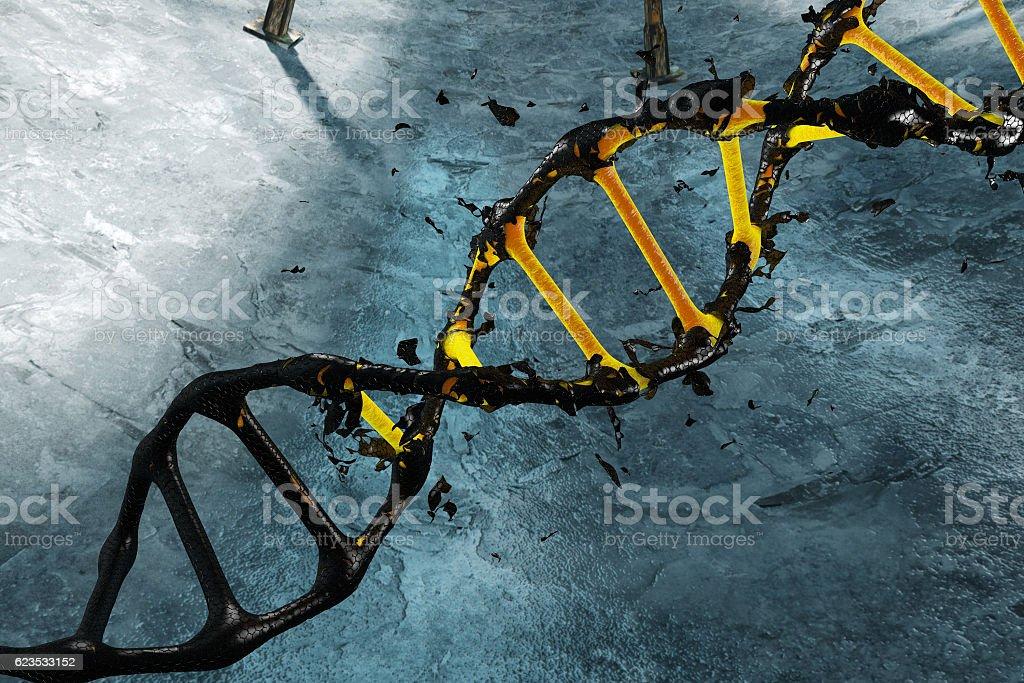 black link DNA renewed modeled in 3d stock photo