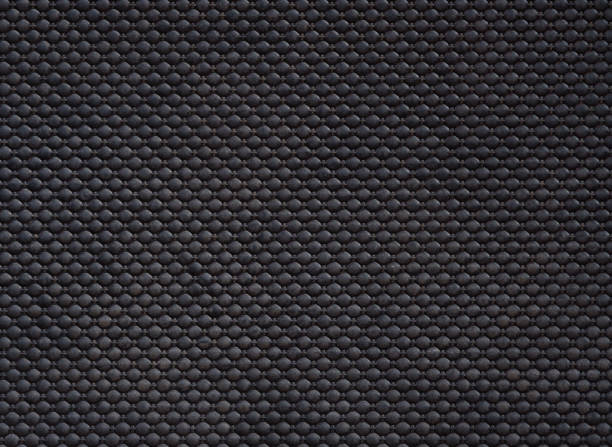 black linoleum background, rubber floor pattern - materiale gommoso foto e immagini stock