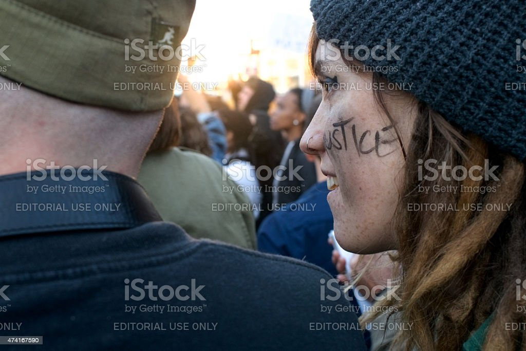 Black Lives Matter March and Protest in Philadelphia, PA royalty-free stock photo