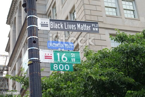 The District of Columbia names a street after the Black Lives Matter movement
