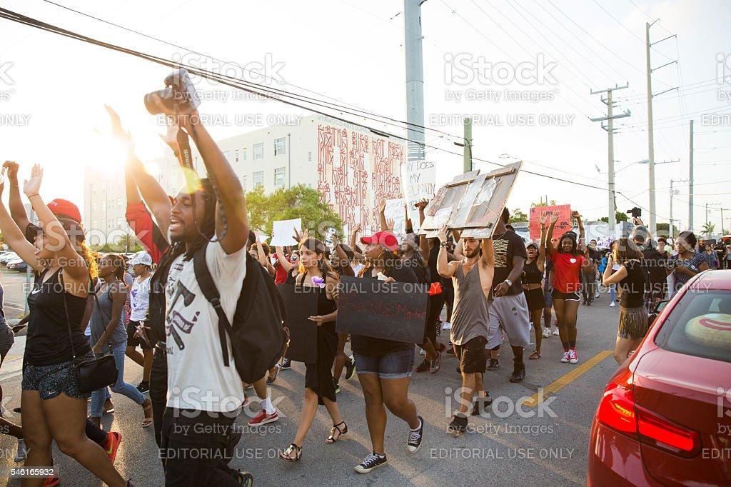 Black Lives Matter protest Miami – Foto