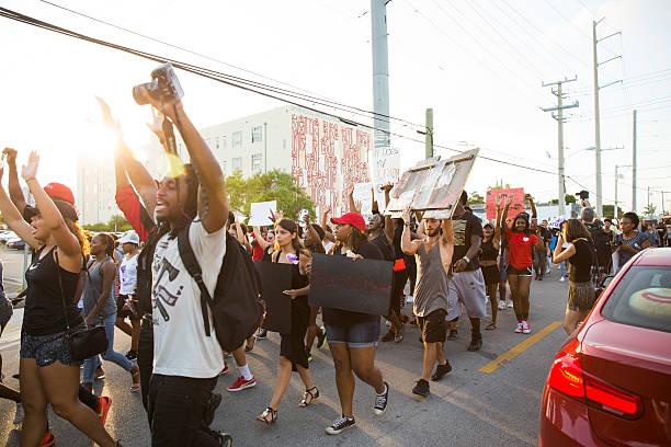 Black Lives Matter protest Miami stock photo