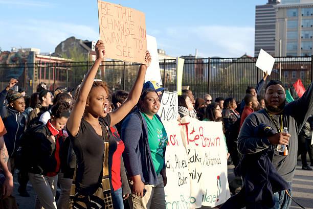 Black Lives Matter Protestors stock photo