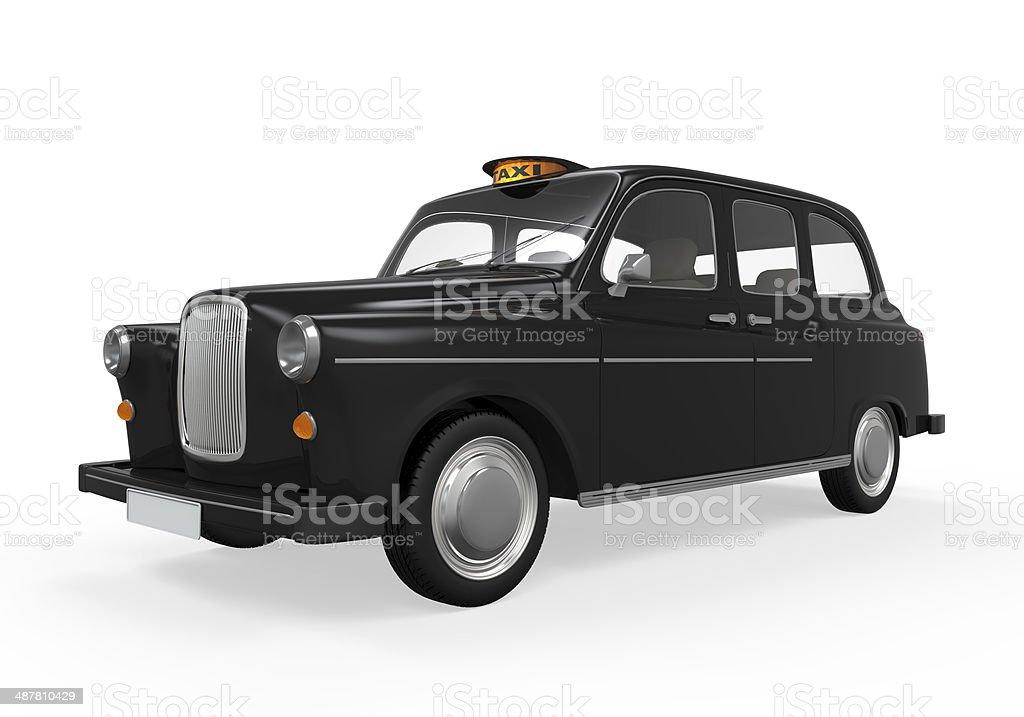Black London Taxi stock photo