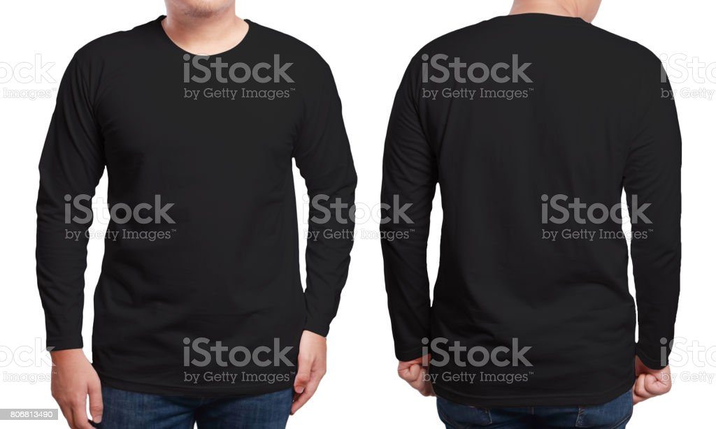 Black Long Sleeved Shirt Design Template stock photo