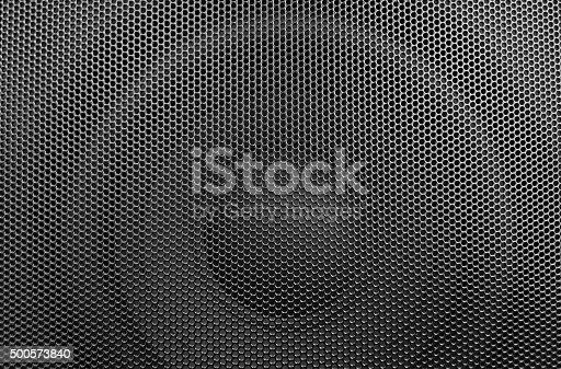 istock Black loudspeaker mask 500573840