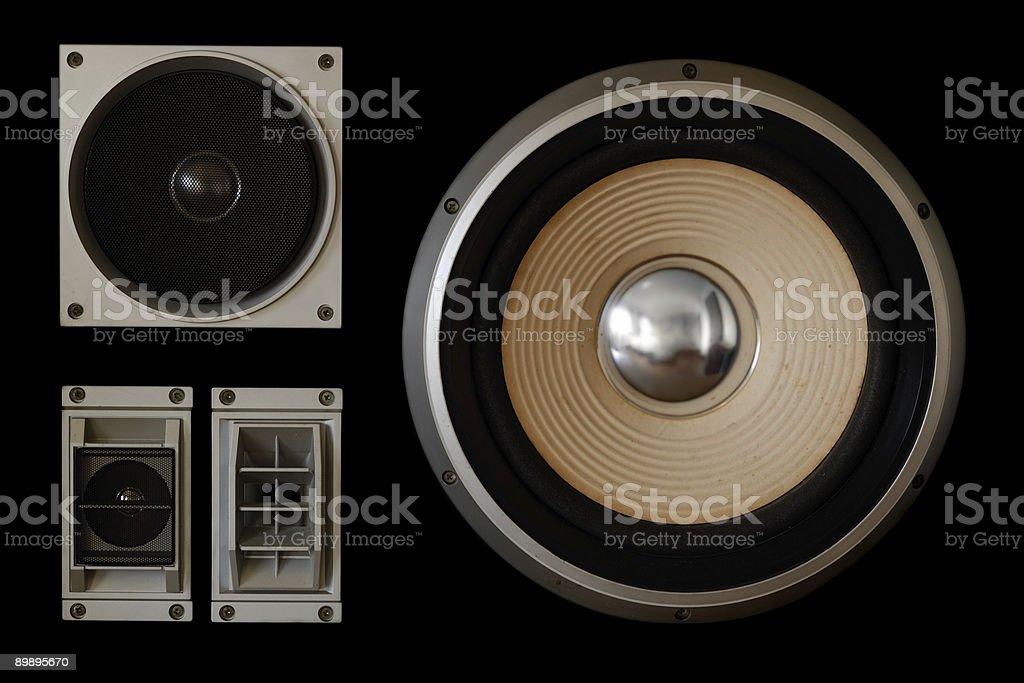 Black loudspeaker royalty-free stock photo