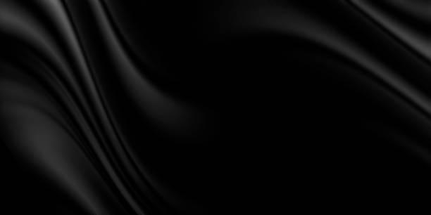 Schwarzer Luxus-Stoffhintergrund mit Kopierraum – Foto
