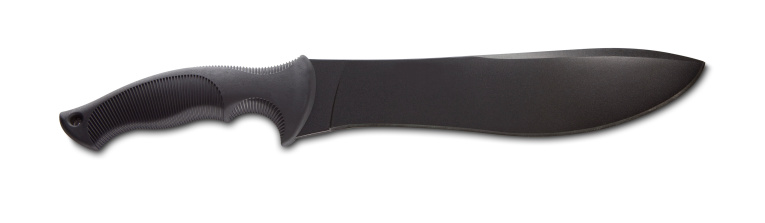 black machete with shadow