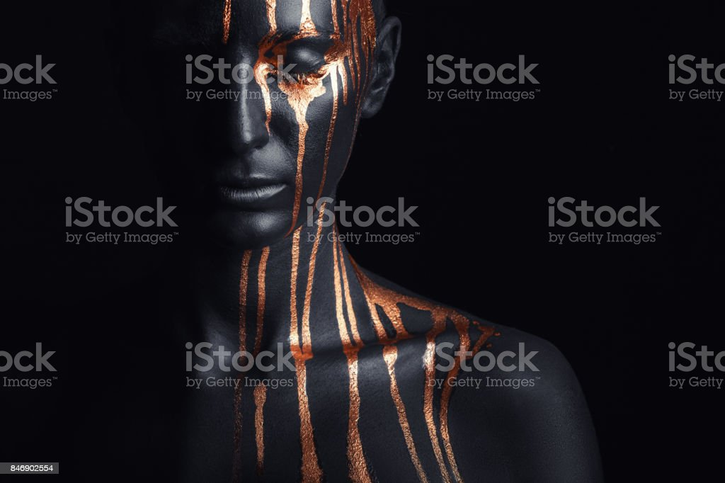 Black makeup stock photo